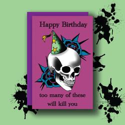 Skull Happy Birthday
