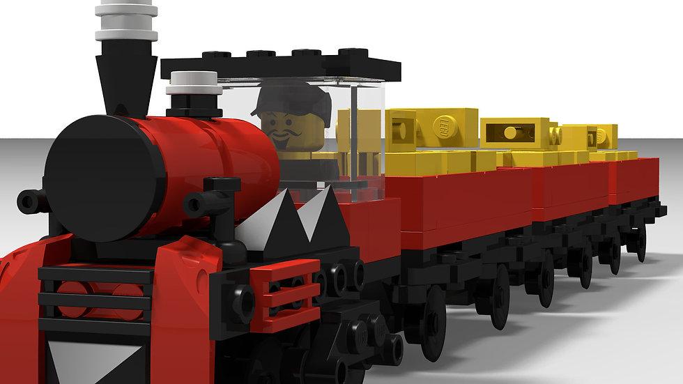 Roter Güterzug