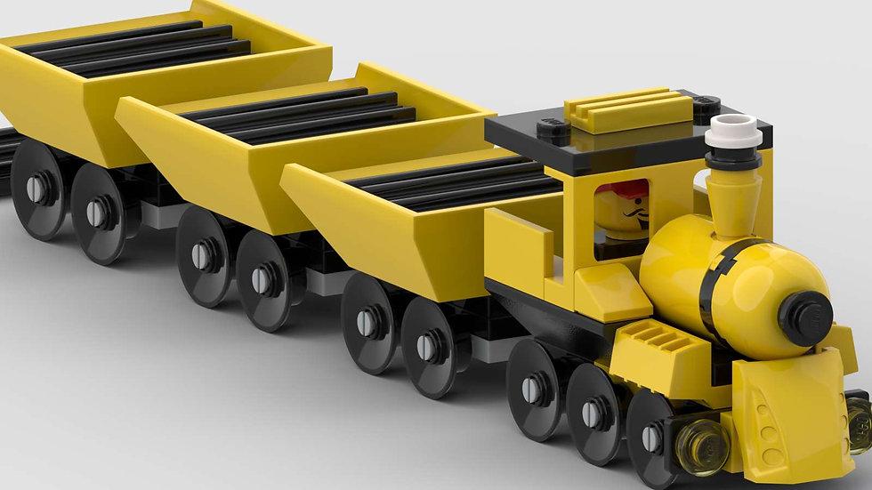 Gelber Güterzug