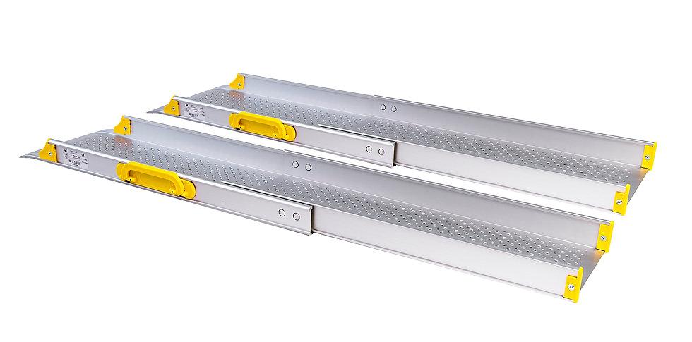 Conjunto de 2 rampas portáteis e telescópicas -  U1