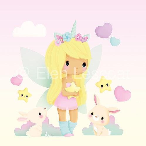 Coupon carré licorne girl