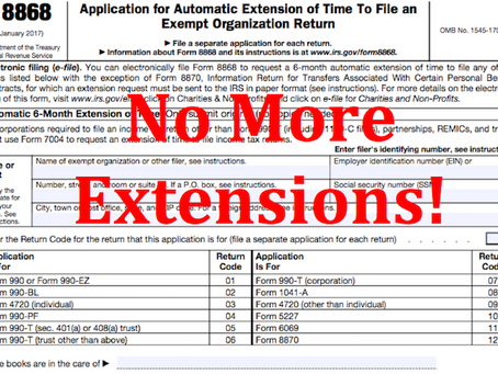 Why charities should stop filing extensions for their Form 990