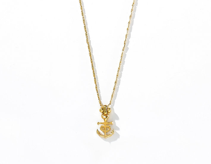CALYPSO ANCHOR THIN NECKLACE.