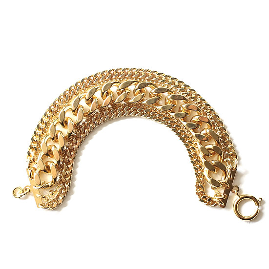 CUBAN LINKS 5 STRANDS BRACELET.