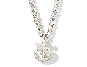 CALYPSO ANCHOR NECKLACE.
