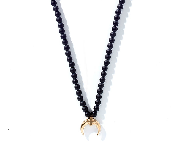 GOUTTE D'OR ONYX NECKLACE.