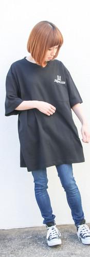 ポケットTシャツ 黒 XL