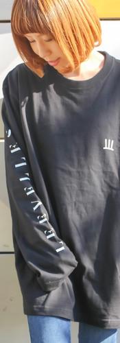 ロングTシャツ 黒 XL