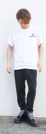 ポケットTシャツ 白 M