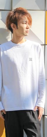 ロングTシャツ 白 M