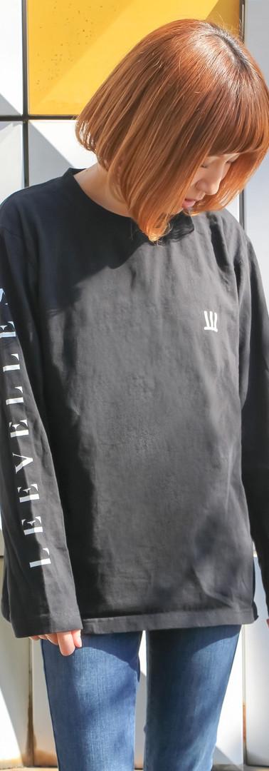 ロングTシャツ 黒 M