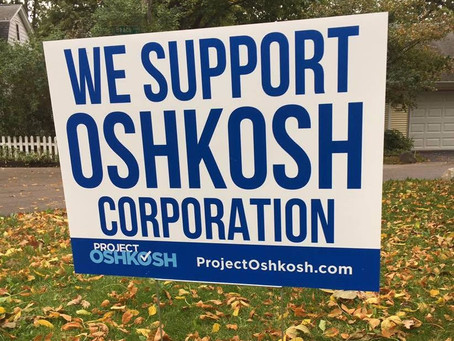 Last Chance! Support Oshkosh Corp. at City Council Meeting Wednesday Night