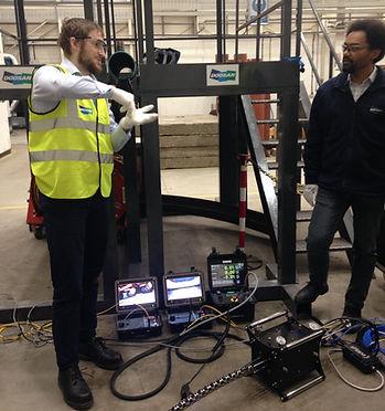 HRSG finned tube snake inspection system