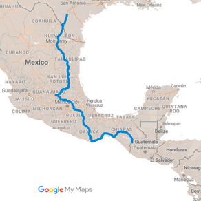 The Route So Far: Mexico, Guatemala, Honduras
