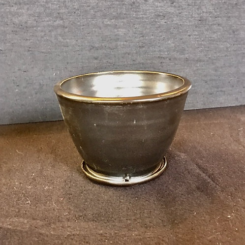 Black Glaze Planter