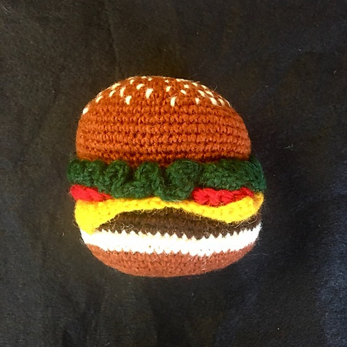 Hamburger Dog Toy