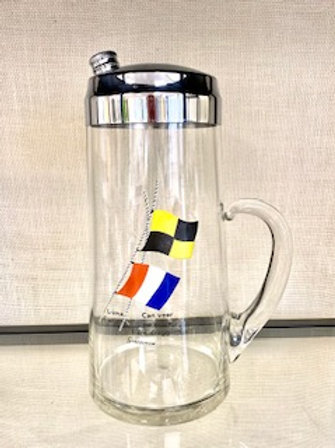 Pitcher/Shaker - Nautical Flags
