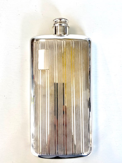 Large Silver Plate Flask