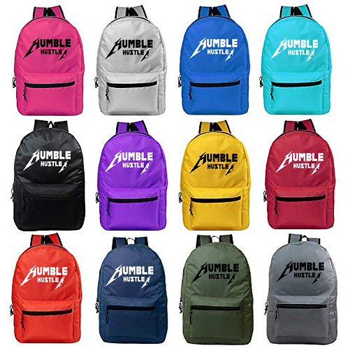 Humble Hustler Tour Reflective Logo Backpack