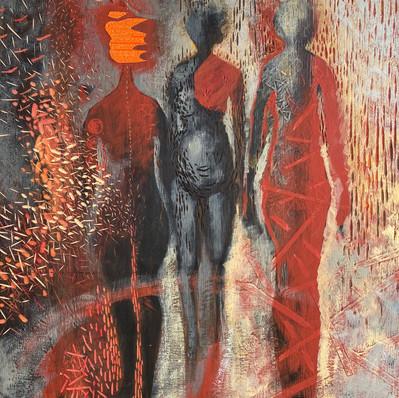 Three women. Gloria Calderon Saenz.jpg