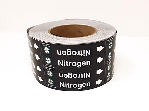 Nitrogen Pipe Label