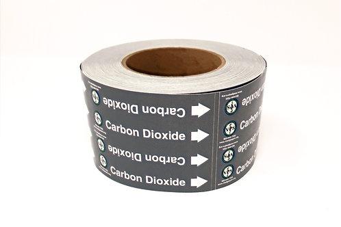 Carbon Dioxide Pipe Label