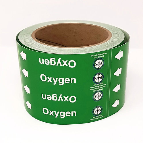 Oxygen Pipe Labels