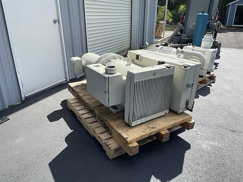 Used 20HP Rietschle Oil-lubed Rotary Vane Vacuum Pump w/Motor