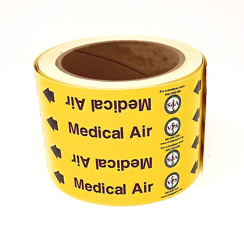 Medical Air Pipe Label