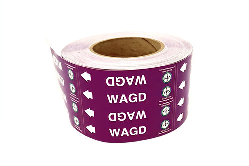 WAGD Pipe Label