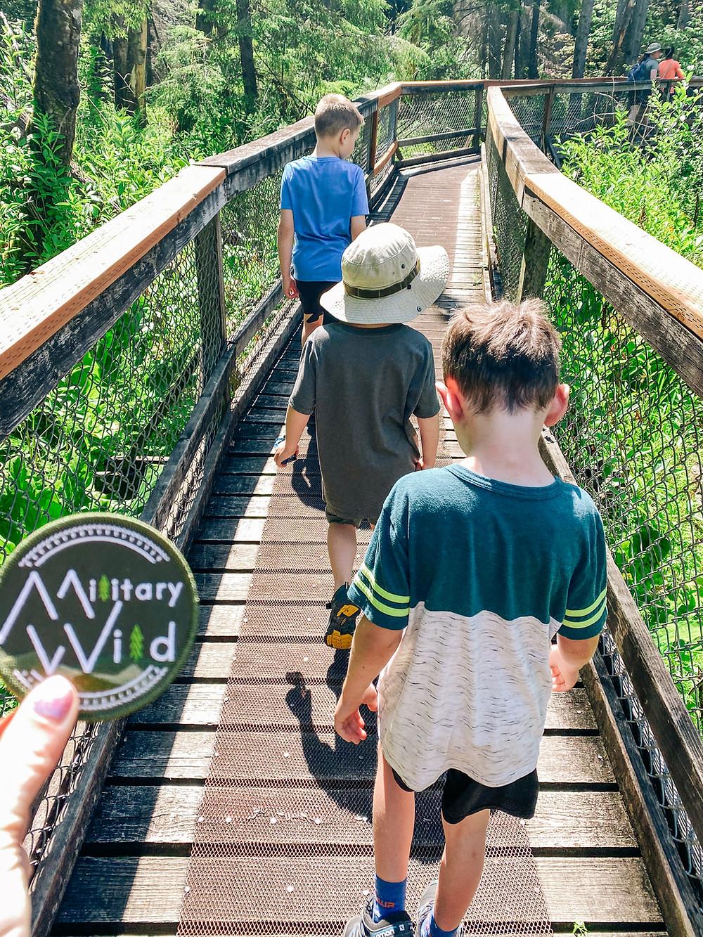 children-hiking-junior-ranger-badges-military-wild-child