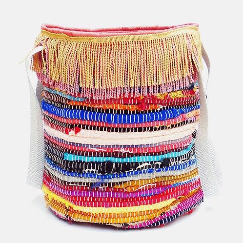 KOURELOU BASKET BAG & PETROL STRAPS