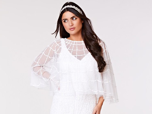 GATS - EMBELLISHED CAPE IN WHITE