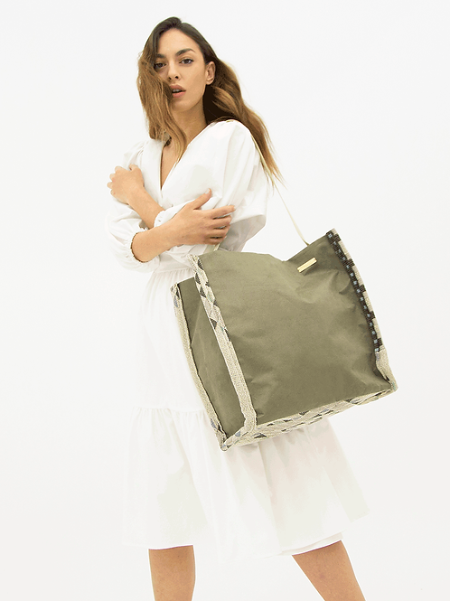 OLIVE BIG TOTE BAG