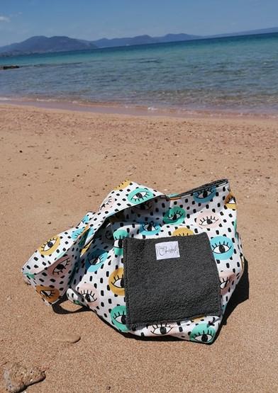 LASHES TOWEL BEACH BAG
