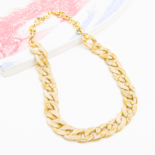 ALMOND CHAIN NECKLACE