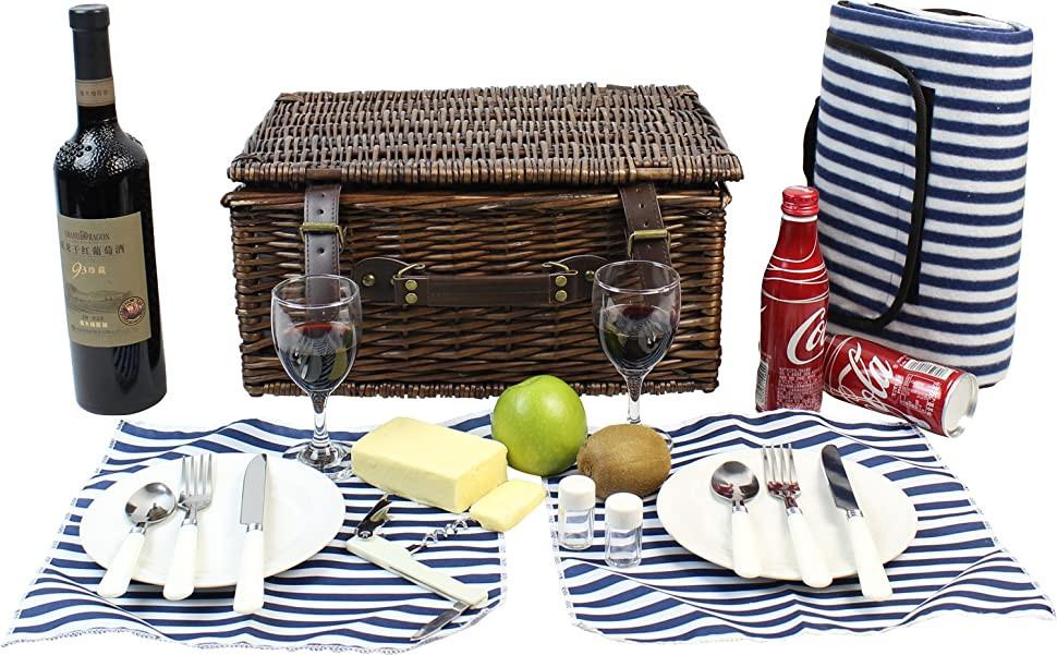 Weiden Picknick Korb