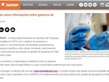 BRAMA é notícia no site da FAPESP