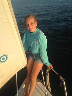 Wellfleet Harbor, riding the bow