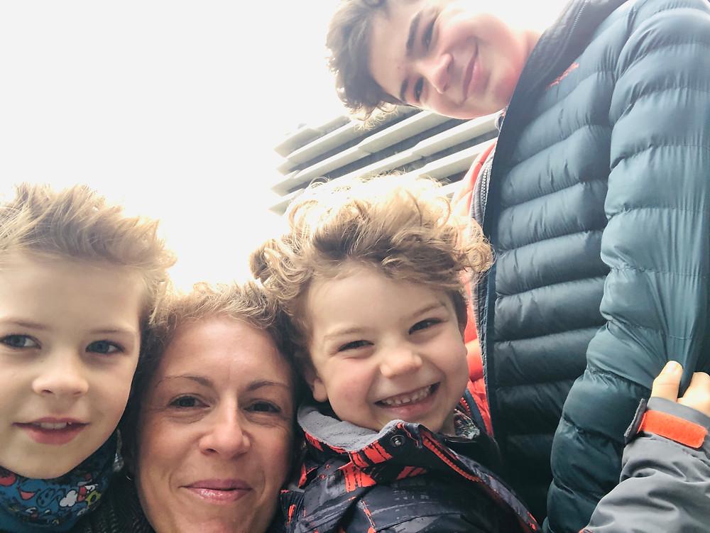 Mum to boys selfie