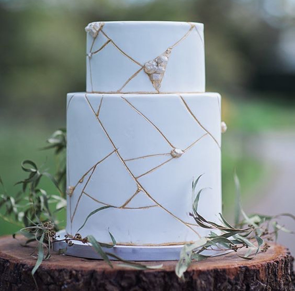 kintsugi cake - Adore Every Detail
