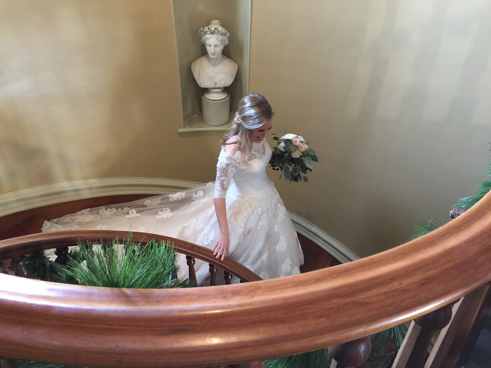 Bride on staircase - Nashville, TN