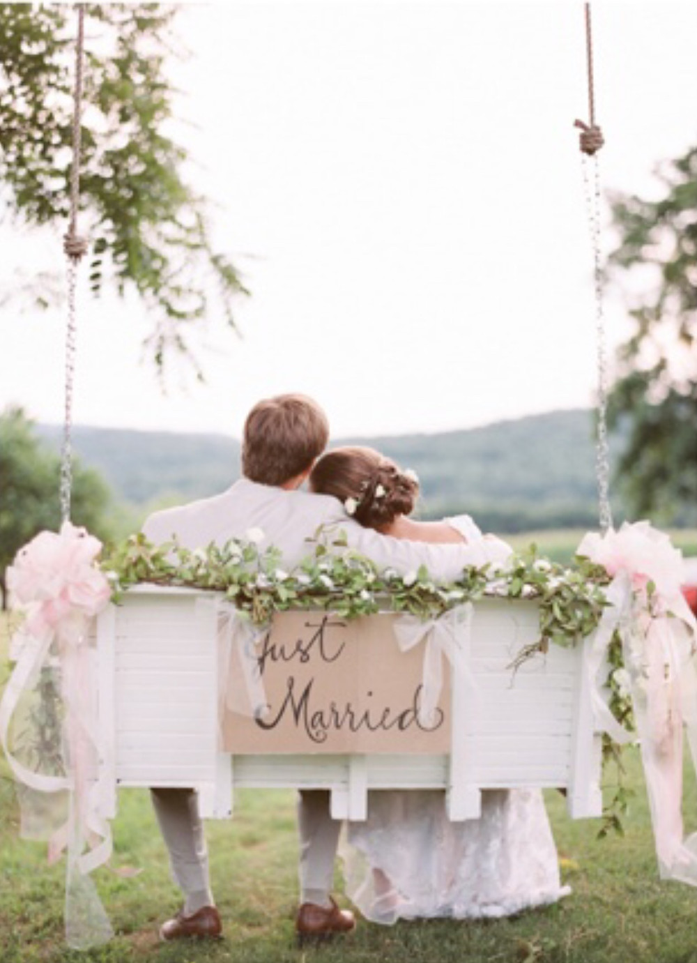 Porch Swing - Just Married - Franklin, Tennessee