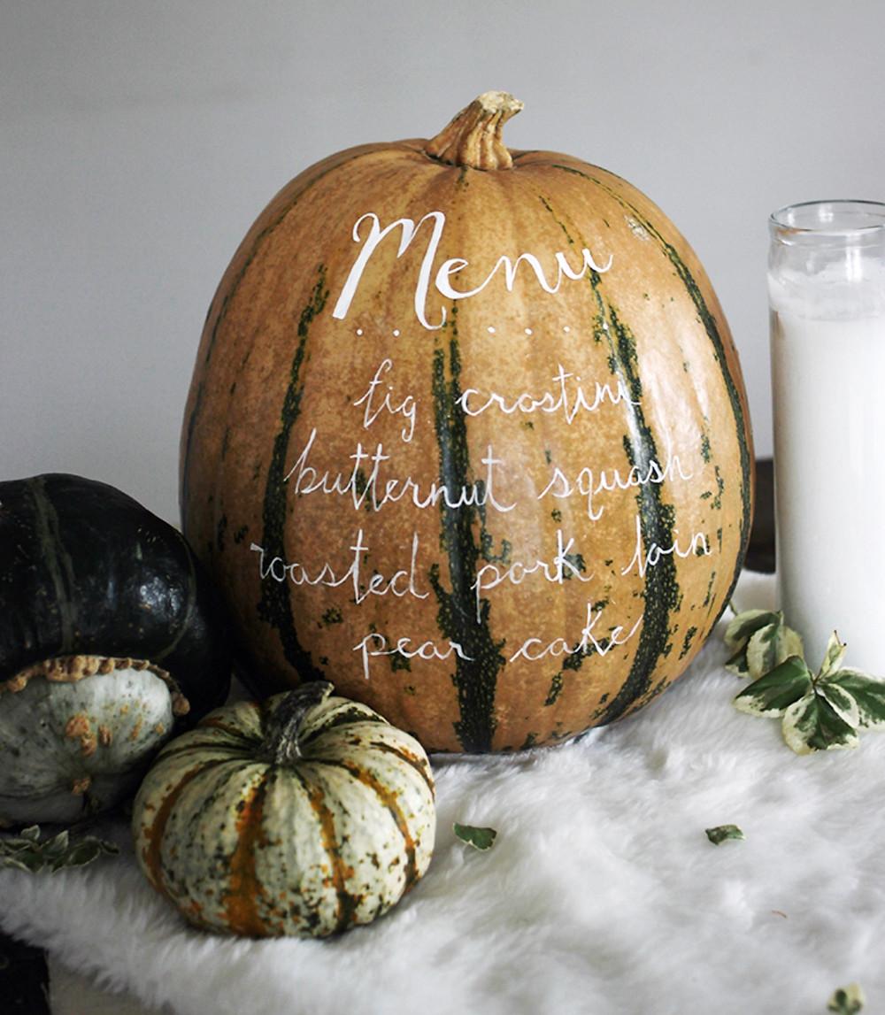Pumpkin Wedding Signage