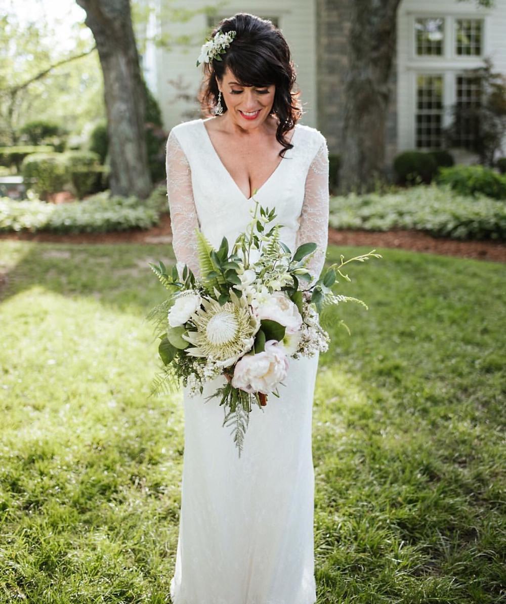 Franklin, TN Wedding + White Bridal Bouquet