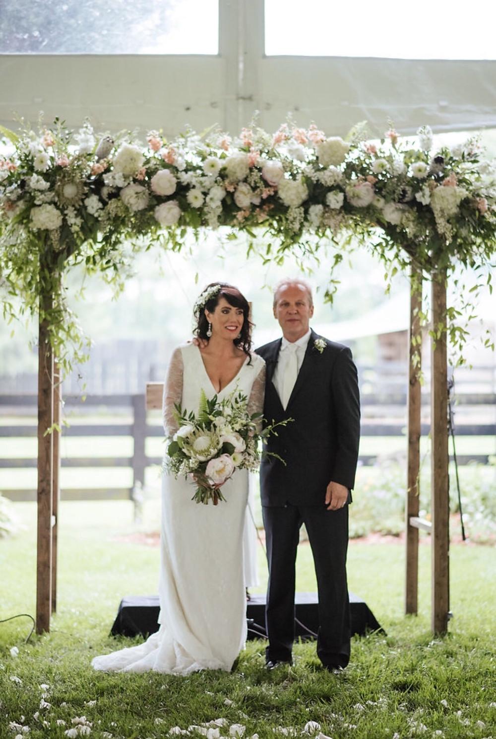 Franklin, TN Wedding + Floral Arbor