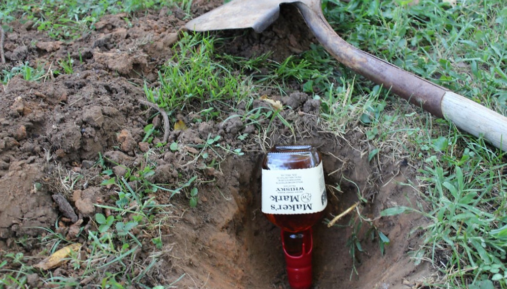 Burying the bourbon