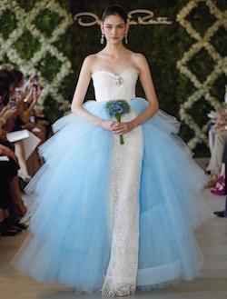 Blue Floral Wedding Dress