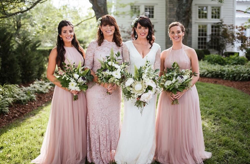 Franklin, TN Wedding + Blush Bridesmaid Dresses