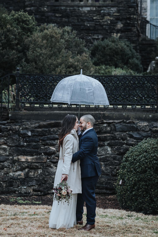 Bride in the rain - Nashville, TN